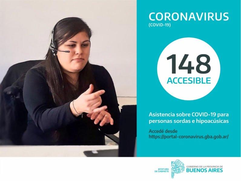 La Provincia habilitó el 148 Accesible para consultas sobre Covid-19