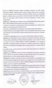 Coronavirus: nuevo decreto regulatorio en San Cayetano