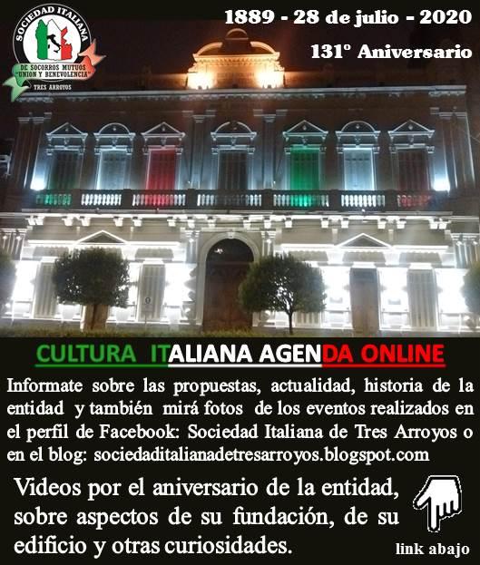 Cumple 131 años la Sociedad Italiana de Tres Arroyos (videos)
