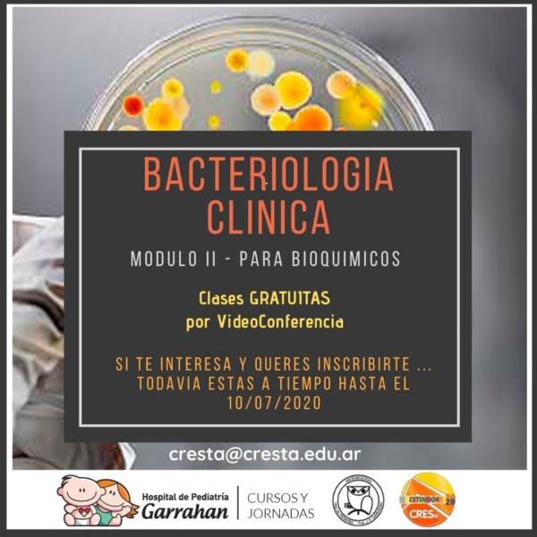 Convocatoria a participar del curso virtual de Bacteriología Clínica