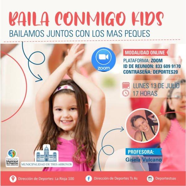 """""""Baila conmigo kids"""" virtual de la Dirección de Deportes"""