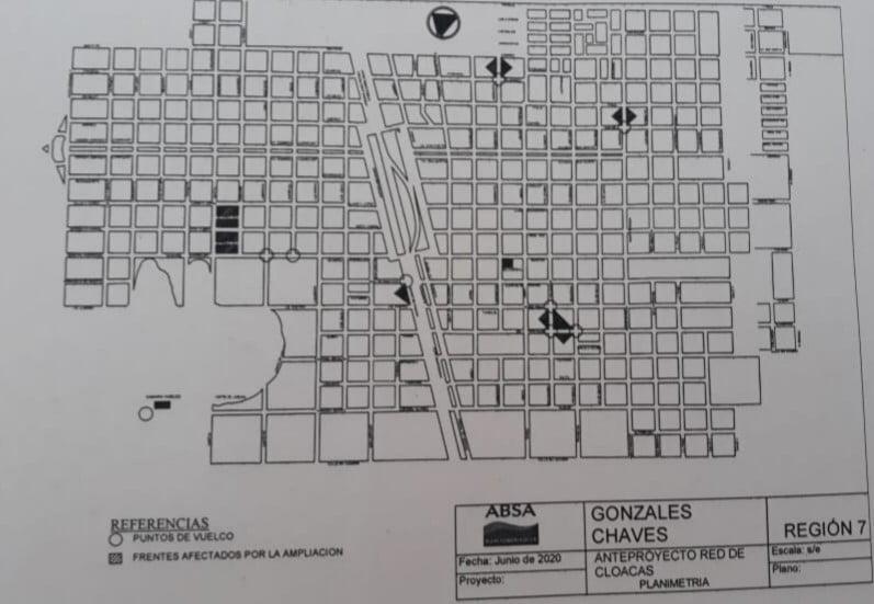 Cloacas en Chaves: cuáles son las calles por dónde comenzará la ampliación de la red