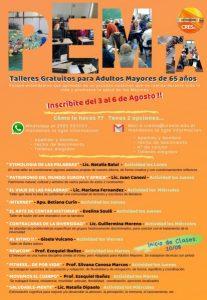PEMTA: invitan a participar de los talleres y seminarios gratuitos