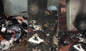 Evacuan un edificio bahiense completo por el incendio de varias bolsas con ropa