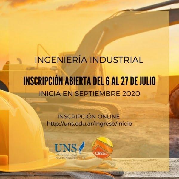 Reabren la inscripción para cursar Ingeniería Industrial en CRESTA