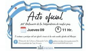 Acto Oficial Virtual por el Día de la Independencia