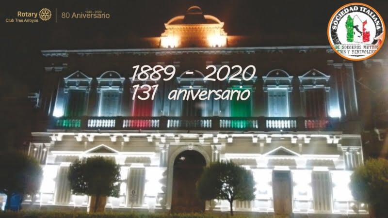 Rotary Club Tres Arroyos saluda a la Sociedad Italiana de Tres Arroyos