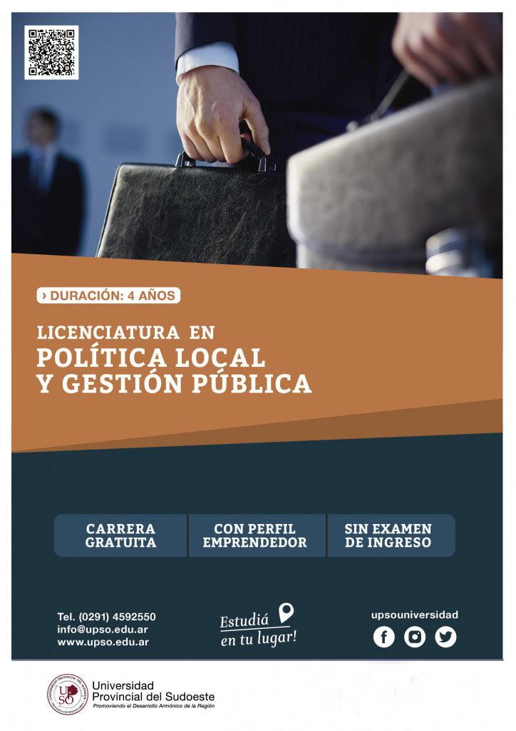 A partir de 2021 se podrá estudiar en Tres Arroyos la Licenciatura en Política Local y Gestión Pública
