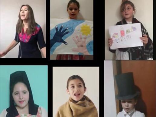 Video de alumnos del Colegio Holandés para conmemorar el 9 de Julio