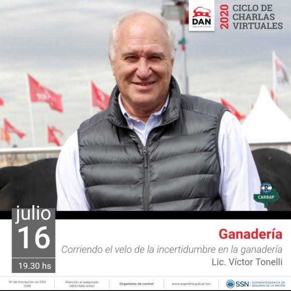 Víctor Tonelli y los mercados ganaderos en el ciclo de charlas de DAN