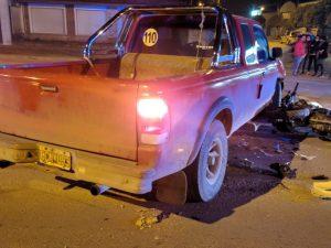 Motociclista fue derivado al hospital tras chocar con una camioneta