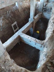 """Recuperan """"esqueleto"""" de Claromecó: Trabajaron en bases y siguen con el arenado (video)"""
