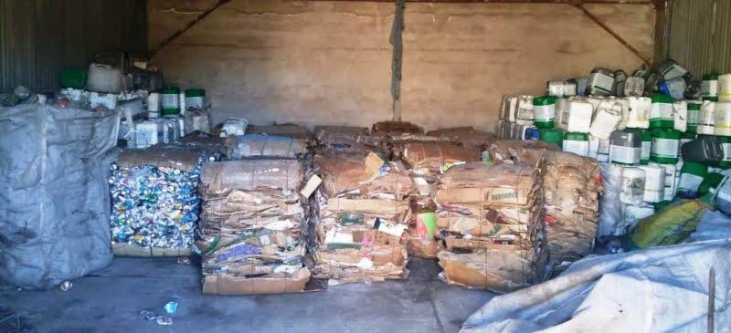 Se procesaron 35 fardos de material reciclable en el distrito chavense