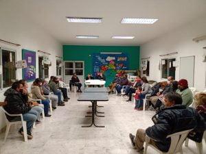 Reunión con vecinos del Barrio Olimpo por obra de agua corriente