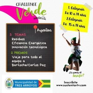 Convocan a niños y adolescentes a participar del Challenge Verde 2020