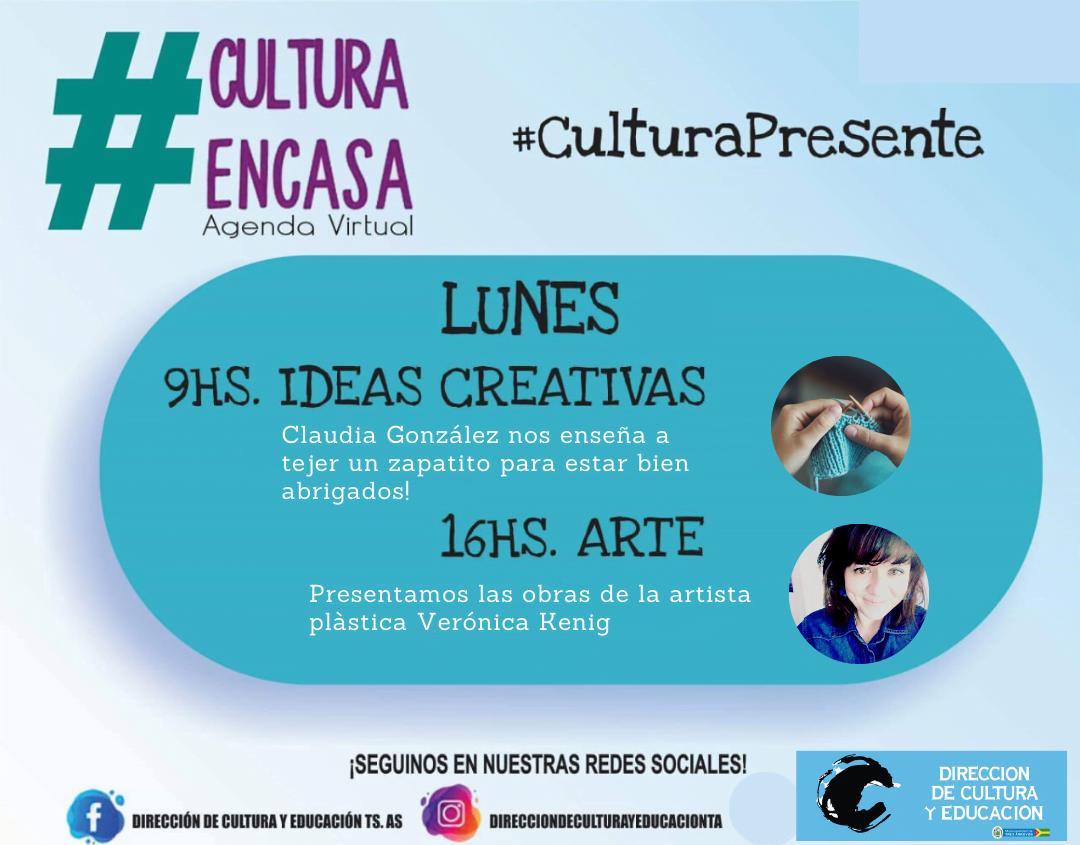 Agenda cultural para este lunes