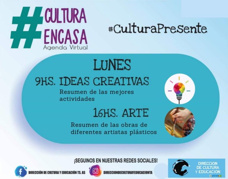 Resumen de actividades para celebrar los dos meses de la Agenda Cultural Virtual