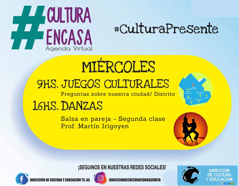 Agenda Cultural Virtual para este miércoles