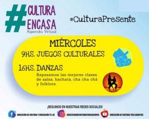 Agenda cultural virtual de este miércoles