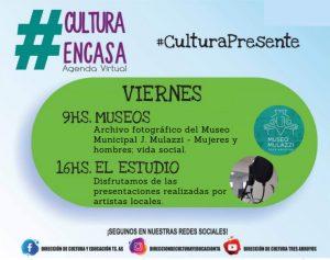 Agenda cultural virtual de este viernes