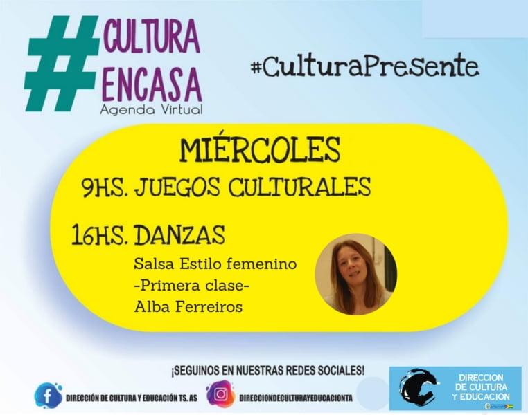 Agenda cultural virtual del miércoles 15 de julio