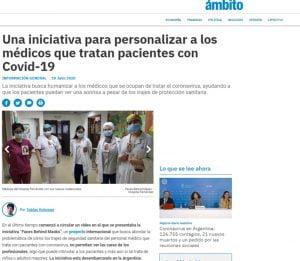 Médica tresarroyense impulsa iniciativa que permite ver caras detrás de sus máscaras