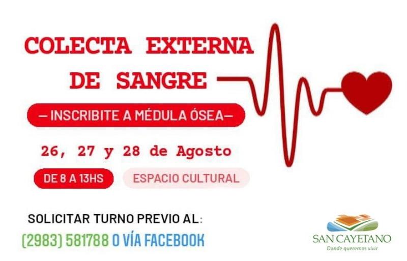 Jornadas de donación de sangre en San Cayetano