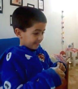 Lucas Sugo conversó a través de las redes sociales con el pequeño Dante Lang (Videos)