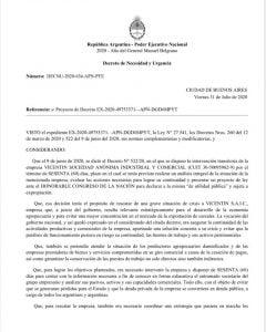 Alberto Fernández anuló por DNU la intervención y la expropiación de Vicentin