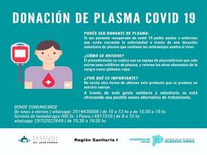 Campaña Nacional convoca a donar plasma a convalecientes de COVID-19