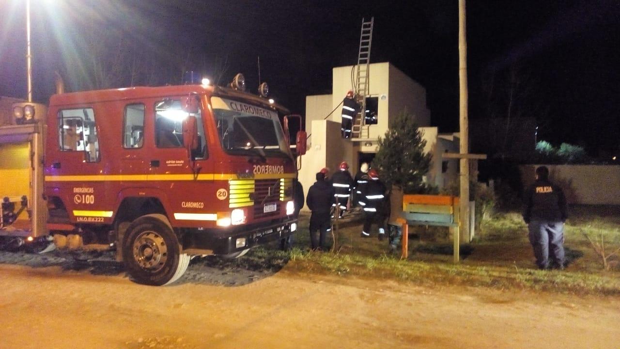 Incendio en una casa de Claromecó anoche