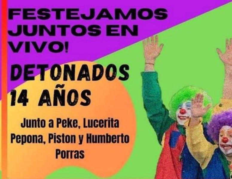 Festejo virtual: 14 años del dúo humorístico Detona Dos