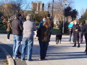 17A: hubo banderazo en Tres Arroyos (video)
