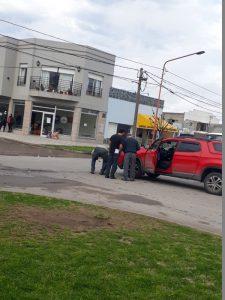 Accidente sin heridos en Av. Ameghino y Alsina