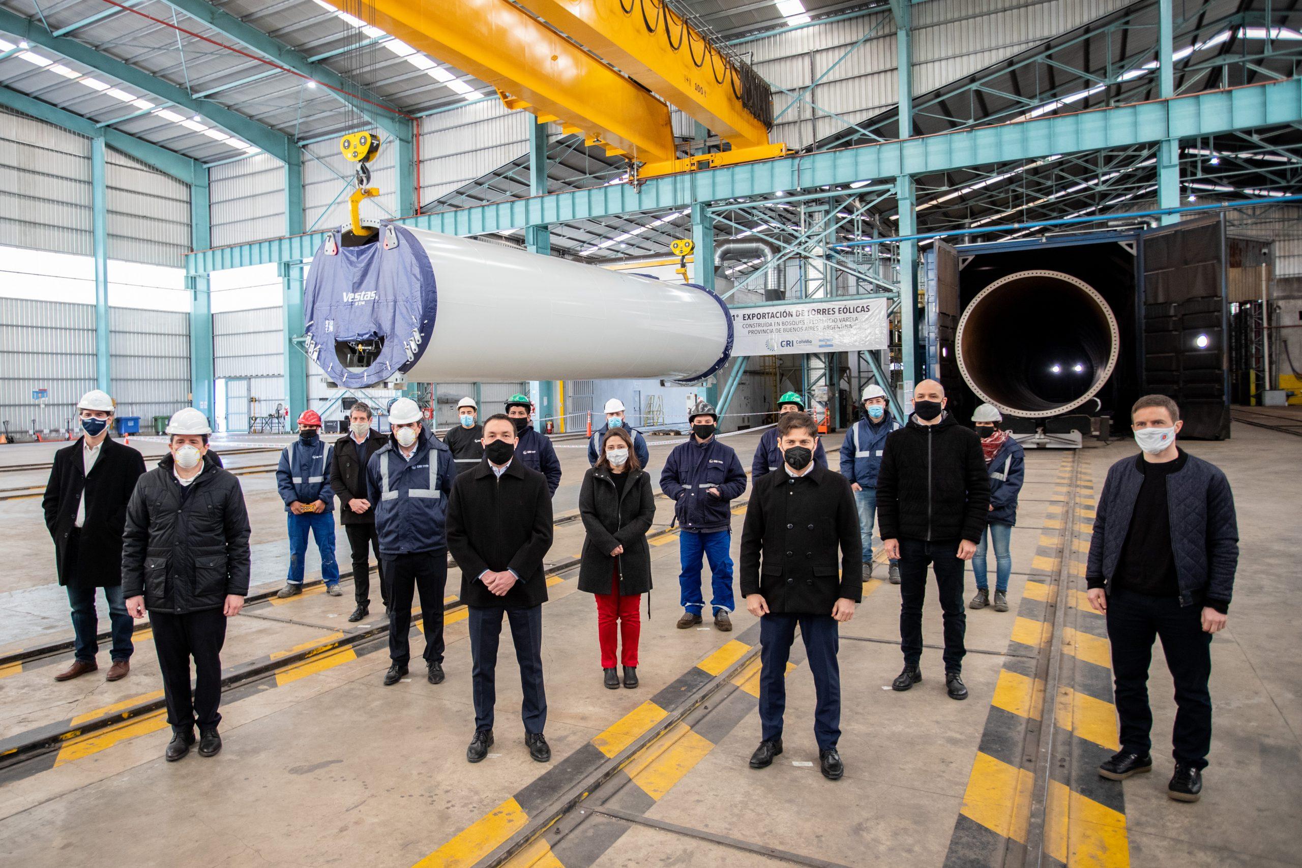 Kicillof visitó el parque industrial y tecnológico de Florencio Varela