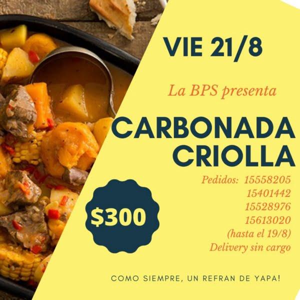 A la criolla: carbonada y refranes salen de la Sarmiento con delivery