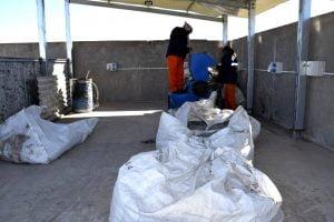 San Cayetano: chipean plástico en la Planta de Tratamiento