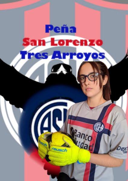La Peña San Lorenzo saluda a las futbolistas en su día