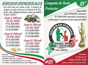 La Sociedad Italiana lanza su 18ª Campaña de Socio Protector con premios millonarios