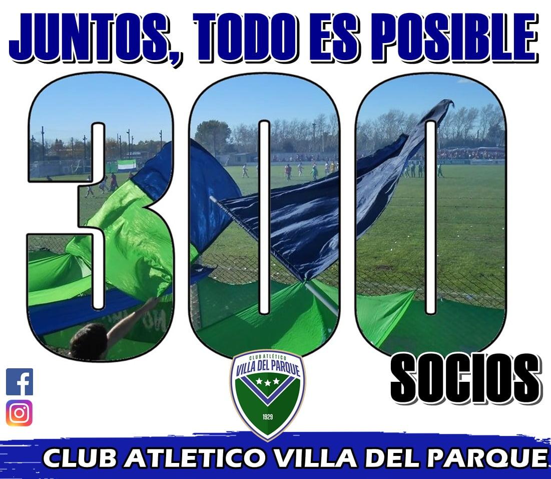 Villa del Parque llegó a los 300 socios