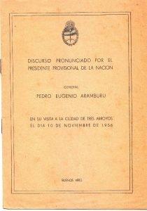 Aramburu en Tres Arroyos (segunda parte)