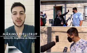 Fjellerup sorprendió a un fanático que tiene 16 años, calza 52 y no consigue zapatillas