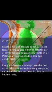 Otra vez pasa el tren de satélites de Starlink: se podría observar en la zona