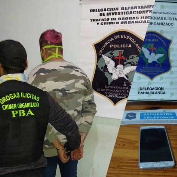 Detienen en Bahía Blanca a un joven que vendía drogas y pastillas a menores