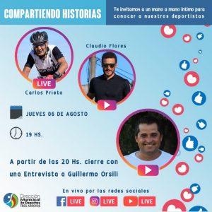 """Carlos Prieto y Claudio Flores, este jueves en  """"Compartiendo Historias"""""""