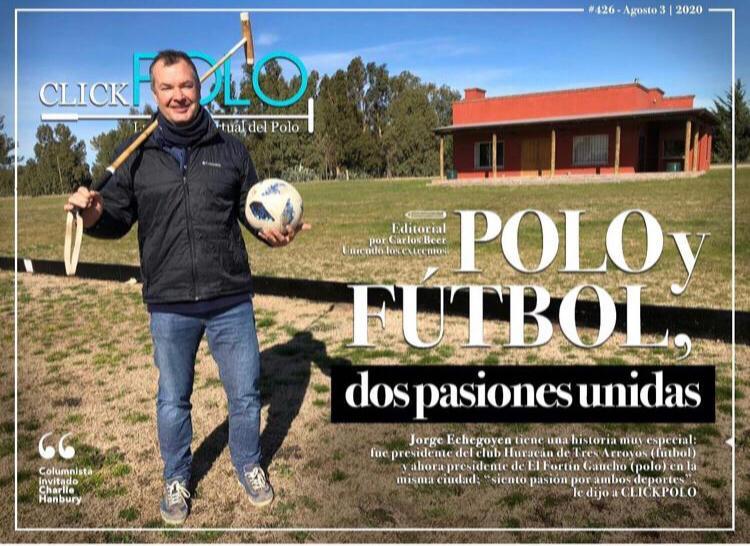 Jorge Etchegoyen en una de las tapas de la revista Click Polo