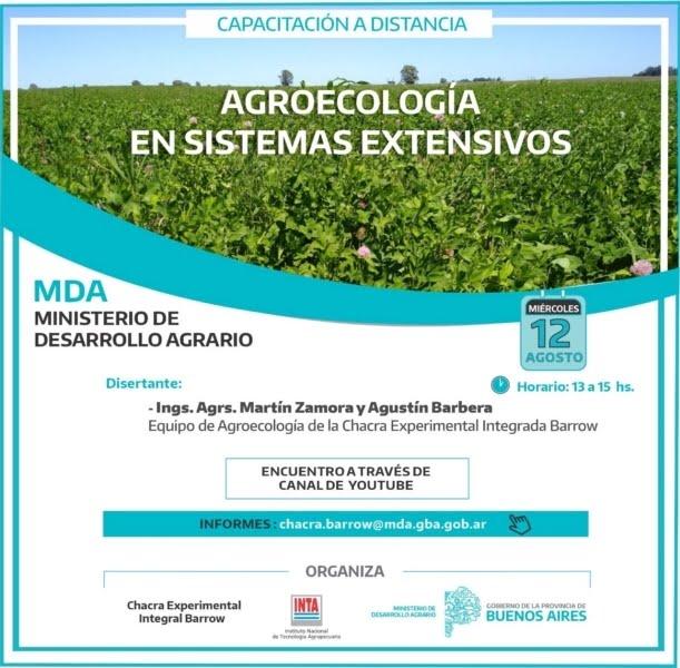 """""""Agroecología en sistemas extensivos"""" en el ciclo de charlas de la Chacra de Barrow"""