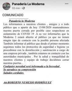 Confunden panadería de Chascomús con posible coronavirus, con una de Tres Arroyos