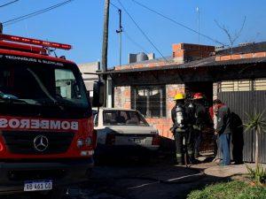 Bomberos sofocaron incendio en vivienda del Barrio Olimpo (video)