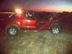 Severos daños en camionetas que chocaron en cercanías a De la Garma